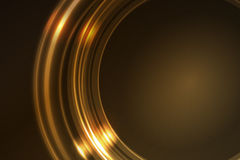 Golden glowing frame of round ring segments royalty free illustration