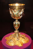 Golden goblet Royalty Free Stock Photos