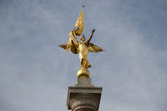 Golden goddess statue Stock Image