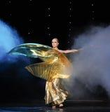 Golden goddess-Turkey belly dance-the Austria's world Dance Royalty Free Stock Image