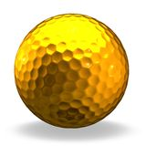 Golden golf ball Royalty Free Stock Photography