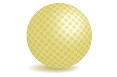 Golden golf ball Stock Photography