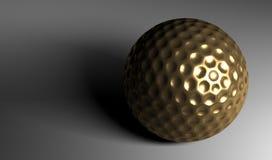 Golden Golf Ball. A golden golf ball with high detail stock illustration