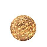Golden golf ball on white  background. Royalty Free Stock Photo