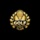 Golden Golf club Royalty Free Stock Images