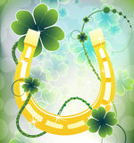 Golden good luck horseshoe Royalty Free Stock Photos