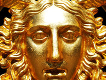 Golden Gorgon mask Stock Photos