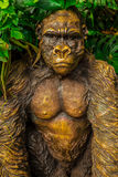 Golden Gorilla Statue Royalty Free Stock Image