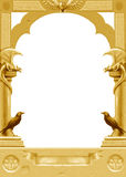 Golden gothic frame Stock Photos