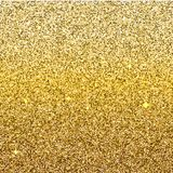 Golden gradient glittering background. Ombre sparkling backdrop Stock Photos