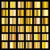 Golden gradients. Gold metal coin textures vector backgrounds stock illustration