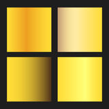 Golden gradients vector. Set illustration background Royalty Free Stock Photography