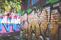Golden graffiti Royalty Free Stock Photography