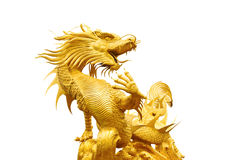 Golden gragon statue Royalty Free Stock Images