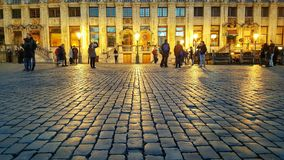 Golden Grand Place, Bruxelles Stock Images