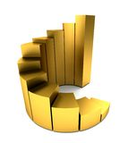 Golden graph Stock Images