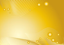 Golden graphical background Stock Image