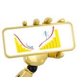 Golden graphs Stock Photo