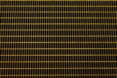 Golden grating texture Stock Photography