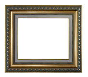 Golden and gray picture frame Stock Images