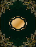 Golden and green  background in arabic or persian style. Royalty Free Stock Photography