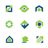 Golden green business success stock story market progress logo icon Stock Images