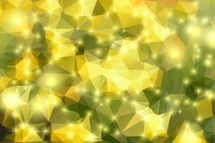 Golden green  geometric background with lights Royalty Free Stock Image