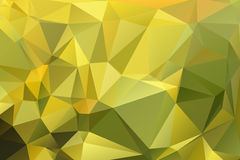 Golden green low poly background stock image