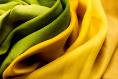 Golden and green textile Royalty Free Stock Photography