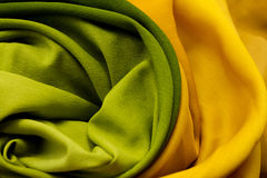 Golden and green textile Royalty Free Stock Images