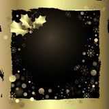 Golden greeting card Stock Images