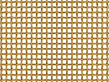 Golden grid. 3d illustration of golden grid isolated on white background Royalty Free Stock Image
