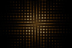 Golden grid texture on black background Royalty Free Stock Images