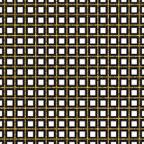 Golden grill. Geometric pattern. Vector illustration Royalty Free Stock Images