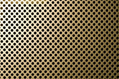 Golden grille surface Royalty Free Stock Photos