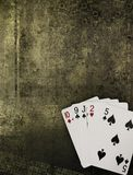 Golden Grunge Poker Royalty Free Stock Photography