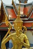 Golden guard in bangkok Stock Photos