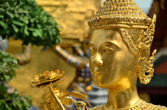 Golden guard in bangkok Royalty Free Stock Photography