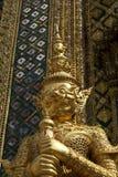 Golden guardian staue, The Grand Palace, Bangkok, Thailand Stock Images