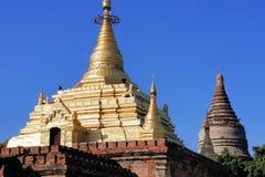 Golden Gubyaukne Buddhist Temple in Bagan, Myanmar Stock Photography