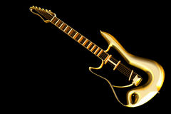 Golden Guitar Royalty Free Stock Photography
