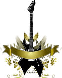 Golden Guitar Banner Stock Photos