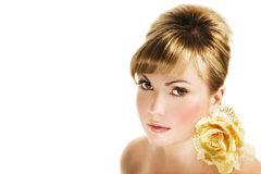 Golden Hair Royalty Free Stock Photos