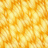 Golden hair seamless pattern. Golden hair vector abstract wavy seamless pattern Stock Photography