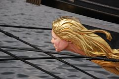 Golden hairs figurehead Royalty Free Stock Photo