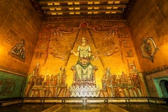 The golden hall Royalty Free Stock Photo