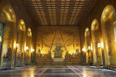 Golden Hall, Stockholm Royalty Free Stock Photos
