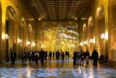 Golden hall of the Stockholm City Hall Royalty Free Stock Image