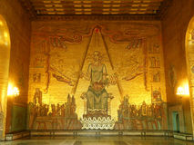 The Golden Hall with Stunning Golden Mosaics & x22;Mälardrottning& x22; By Holger.Ellgaard, Stockholm City Hall Stock Images