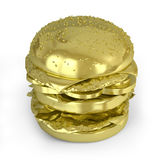 Golden Hamburger Royalty Free Stock Images